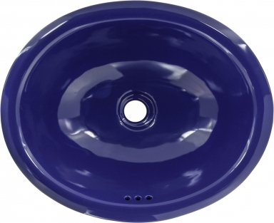Midnight Blue Talavera Ceramic Oval Drop In Bathroom Sink