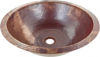 Round Natural Copper Bathroom Sink