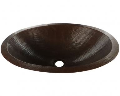 Classic Oval Antique Undermount Copper Bathroom Sink
