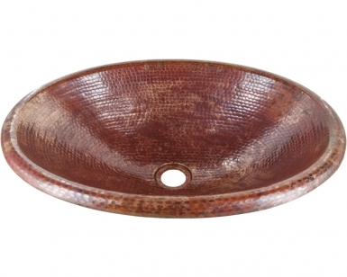 Classic Oval Natural Drop-in - Copper Bathroom Sink