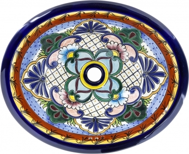 El Lencero 1 Hacienda Ceramic Oval Drop-in Bathroom Sink