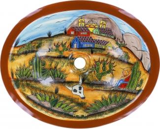 14x17 El Pueblo Hacienda Oval Drop In Bathroom Sink