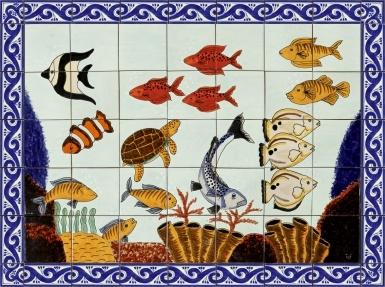 Cozumel Ceramic Tile Mural