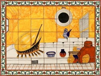 Cocina Rustica Ceramic Tile Mural
