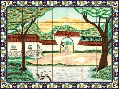 Compostela Ceramic Tile Mural