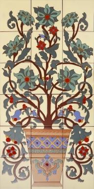 Flowers & Vase 1 Santa Barbara Tile Mural