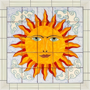 Bright Sun Ceramic Tile Mural