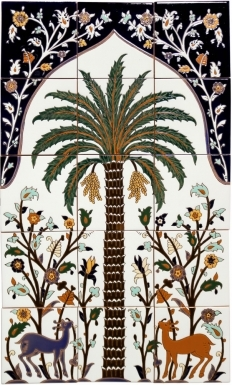 Persian Palm Tree Santa Barbara Tile Mural