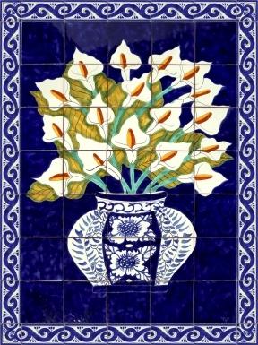 Alcatraz Azul Ceramic Tile Mural