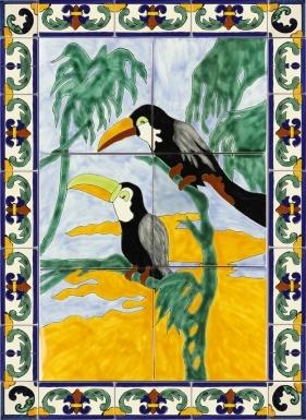 Tucanes Ceramic Tile Mural