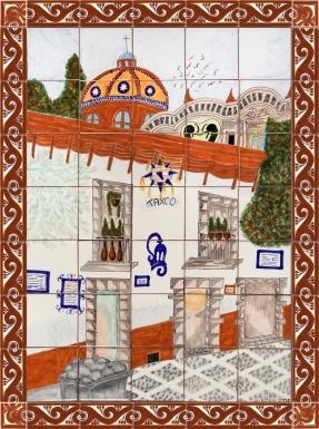 Taxco Ceramic Tile Mural