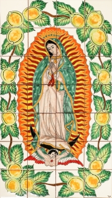 Virgin Mary Ceramic Tile Mural