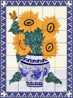 Sunflower Bouquet 1 Ceramic Tile Mural