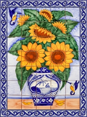 Sunflower Bouquet 2 Ceramic Tile Mural