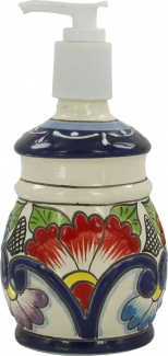 Round Soap Dispenser With Relief La Algodonera