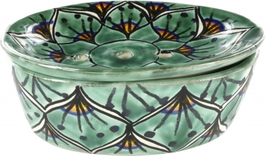 Green Peacock - Talavera Soap Dish