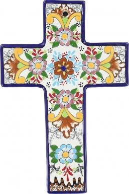 Floral N.1 Square - Ceramic Cross