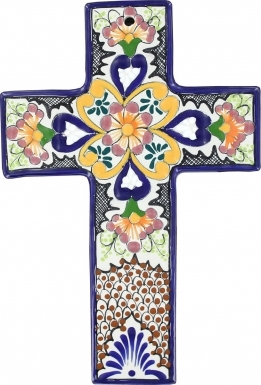 Floral N.2 Square - Ceramic Cross