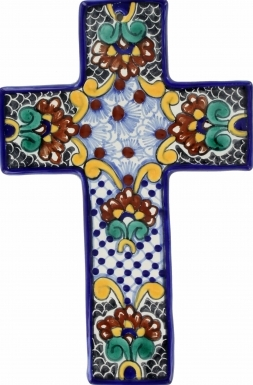 Floral N.3 Square - Ceramic Cross