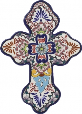 Floral N.4 - Ceramic Cross