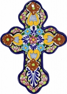 Floral N.5 - Ceramic Cross