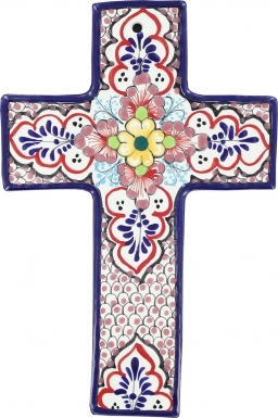 Floral N.6 Square - Ceramic Cross