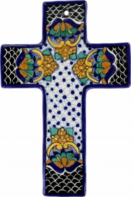 Floral N.7 Square - Ceramic Cross