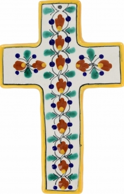 Floral N.10 Square - Ceramic Cross