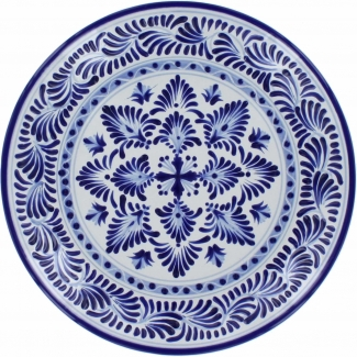 12 In Puebla Classic Ceramic Talavera Plate N 6