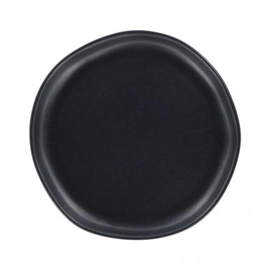 Organic Black Matte Dessert - Ceramic Plate