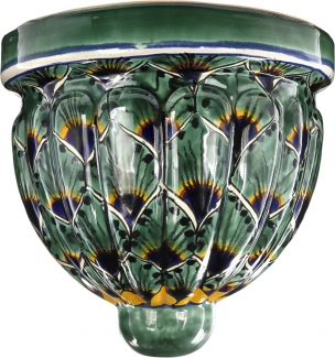 Green Peacock Talavera Wall Planter
