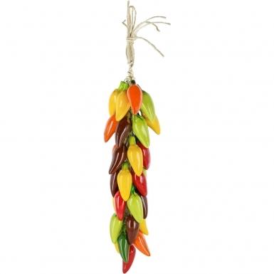 Multicolor Jalapeno Chili - Ceramic Ristra