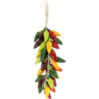 Multicolor Jalapeno Chili Ceramic Ristra