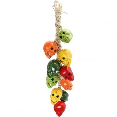 Multicolor Skulls - Ceramic Ristra