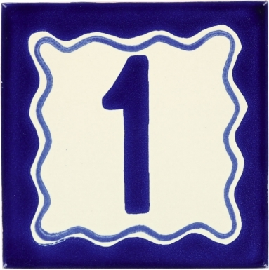 Blue - Talavera Mexican House Number