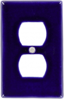 Cobalt Blue Outlet - Talavera Switchplate