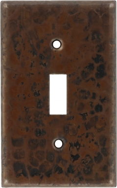 Antique Single Toggle - Copper Switchplate
