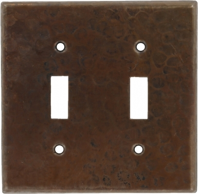 Antique Double Toggle - Copper Switchplate