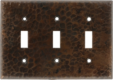 Antique Triple Toggle - Copper Switchplate