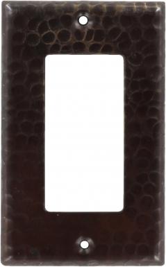 Antique Single GFI Rocker - Copper Switchplate