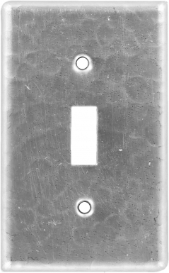 Brushed Nickel Single Toggle - Copper Switchplate