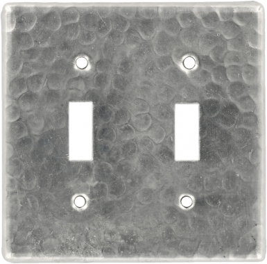 Brushed Nickel Double Toggle - Copper Switchplate