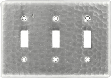 Brushed Nickel Triple Toggle - Copper Switchplate