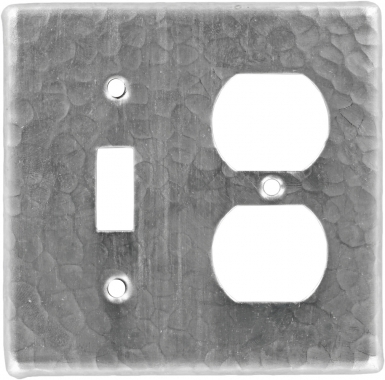 Brushed Nickel Toggle/Outlet - Copper Switchplate