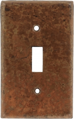 Natural Single Toggle - Copper Switchplate