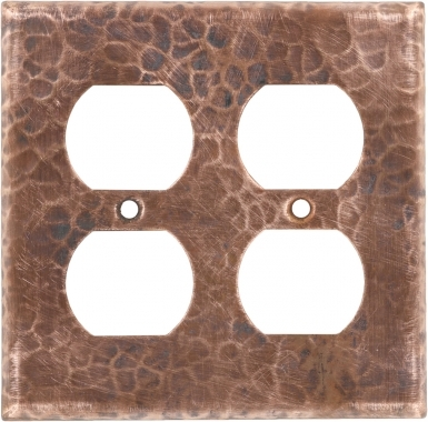 Natural Double Duplex Outlet - Copper Switchplate