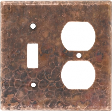 Natural Toggle/Outlet - Copper Switchplate