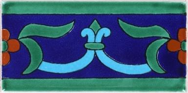 Flor de Liz Azul Terra Nova Mediterraneo Ceramic Tile