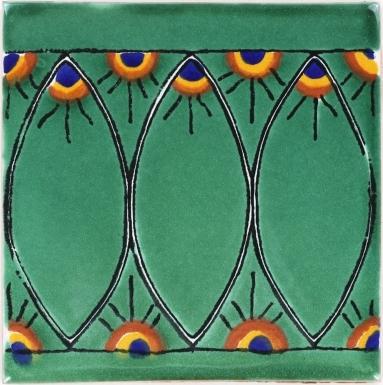 Green Peacock Terra Nova Mediterraneo Ceramic Tile