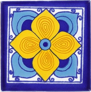 Turquoise Flor Sevillana Terra Nova Mediterraneo Ceramic Tile